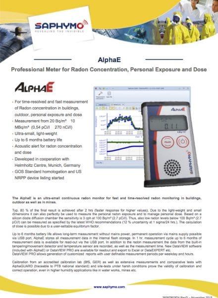 Data Sheet AlphaE