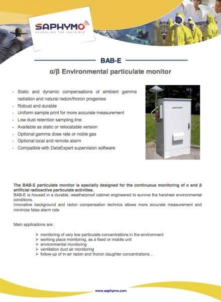 Data Sheet BAB E