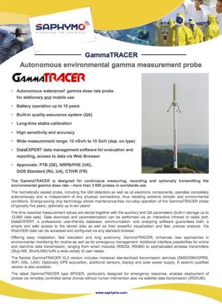 Data Sheet GammaTRACER