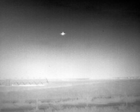 Plane taking off, thermal mode