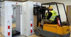 Installation of the C3 portal monitors in the Flamanville site