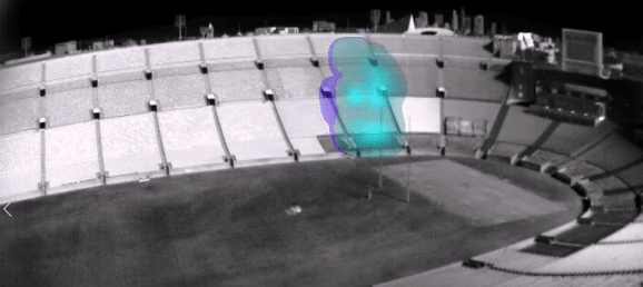 SF6 detection in a stadium